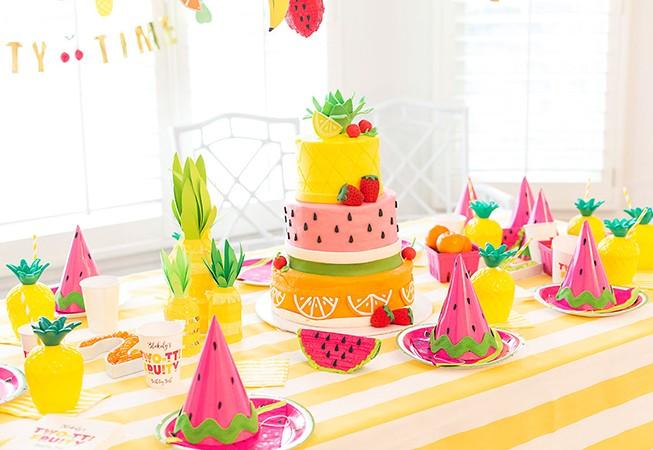 doğum günü partisi meyve şöleni