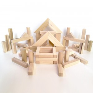 Ahşap İnşaat Blokları – 60 parça