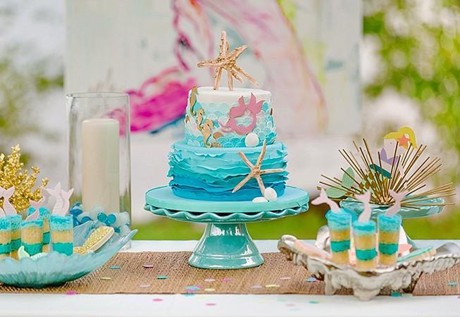 doğum günü partisi küçük deniz kızları